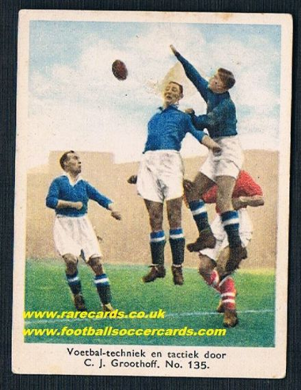 1934 Groothoff Chelsea Arsenal Dutch